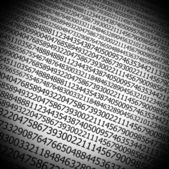 Sequences of digits stream background — Foto Stock