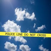 Non attraversare la linea di polizia — Foto Stock