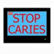 ������, ������: Slogan STOP CARIES on television screen