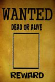 Vintage wanted poster template — Stock Photo