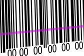 Abstract barcode security pattern background with laser — Стоковое фото