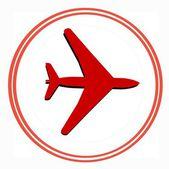 Samolot naklejki — Zdjęcie stockowe