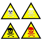 Beware toxic stickers  set — Stock Photo