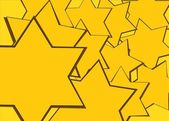 Yellow david star texture with place for your design or text — Stock Photo