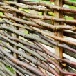Stock Photo: Wattle fence of wooden rods