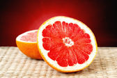 Cut grapefruit closeup — Stock Photo