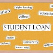 Student Loan Corkboard Concept — Stock Photo