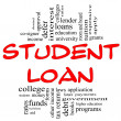 Student Loan Word Cloud Concept in red & black — Stock Photo