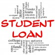 Student Loan Word Cloud Concept in red & black — Stock Photo #12433413