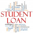 Student Loan Word Cloud Concept — Stock Photo