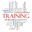 Training Word Cloud Concept — Stock Photo