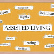 Royalty-Free Stock Photo: Assisted Living Corkboard Word Concept