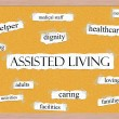 Assisted Living Corkboard Word Concept — Stock Photo #12438178