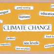 Climate Change Corkboard Word Concept — Stock Photo