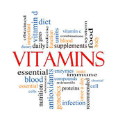 Vitamins Word Cloud Concept — Stock Photo