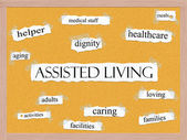 Assisted Living Corkboard Word Concept — Stock Photo