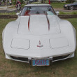 White 1977 Corvette Front view — Foto Stock