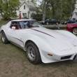 White 1977 Corvette — Stock Photo #12496916