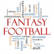 fantasy football parola nuvola concetto — Foto Stock