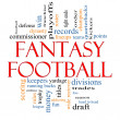 Fantasy Football Word Cloud Concept — Stock fotografie
