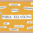 Stock Photo: Public Relations Corkboard Word Concept