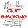 Stock Photo: Quit Smoking Word Cloud Concept in red & black