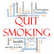 Quit Smoking Word Cloud Concept - Stock Photo
