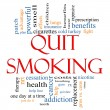 Quit Smoking Word Cloud Concept — Foto Stock