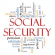 Social Security Word Cloud Concept — Stock Photo