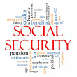 Social Security Word Cloud Concept - Stock Photo