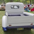 Stock Photo: 1940 Blue & White Ford Truck Back view