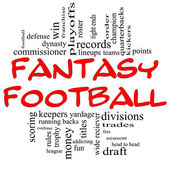Fantasy Football Word Cloud Concept in Red & Black — Stock Photo