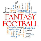 Fantasy Football Word Cloud Concept — Stock Photo