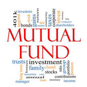 Mutual Fund Word Cloud Concept — Stock Photo