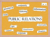 Public Relations Corkboard Word Concept — Stock Photo