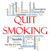 Quit Smoking Word Cloud Concept — Stock Photo