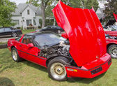 Red 1986 Chevy Corvette — Stock Photo