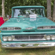 Stock Photo: Blue 1960 Chevy Apache truck front