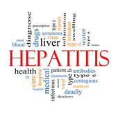 Hepatitis Word Cloud Concept — Stock Photo
