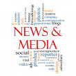 Stock Photo: News and Media Word Cloud Concept