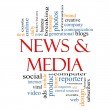 News and Media Word Cloud Concept — Stock Photo