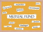 Mutual Fund Corkboard Word Concept — Foto Stock