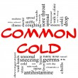 Royalty-Free Stock Photo: Common Cold Word Cloud Concept in red & black