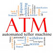 ATM Word Cloud Concept — Stock Photo