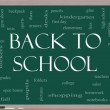 Back to School Word Cloud Concept on a Blackboard — Stock Photo