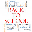 Back to School Word Cloud Concept - Stock Photo