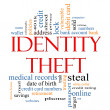 Stock Photo: Identity Theft Word Cloud Concept