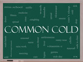Common Cold Word Cloud Concept on a Blackboard — Stock Photo