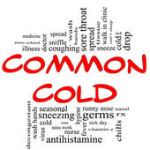 Common Cold Word Cloud Concept in red & black — Stock Photo