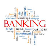 Banking Word Cloud Concept — Stock Photo
